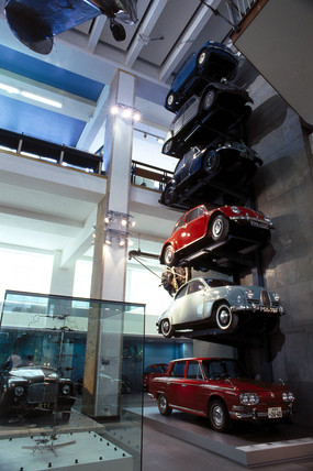 Post-WWII cars, Science Museum, London, June 2000.
