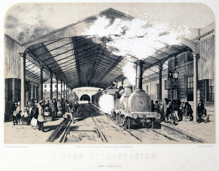 Edge Hill station, Liverpool, 1848.