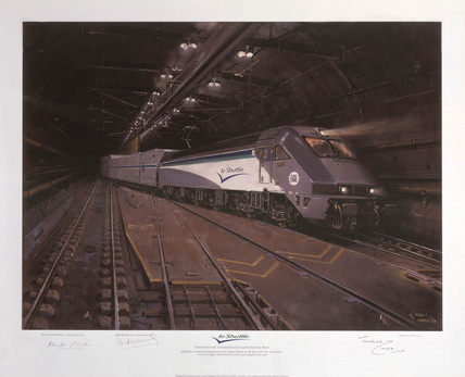 'Le Shuttle in Euro tunnel', 1994.