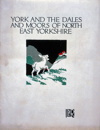 Front cover of guidebook to North East Yorkshire, c 1920s.