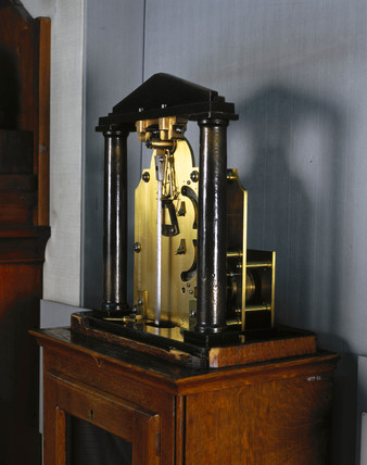 Regulator clock with gravity escapement, English, c 1850.