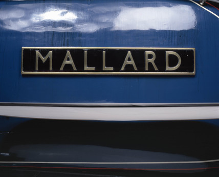 The Name plate of 'Mallard', London & North Eastern Railway locomotive, 1938.