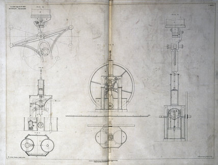 Maudslay Patent No 3050 specification drawing, 13th June, 1807.