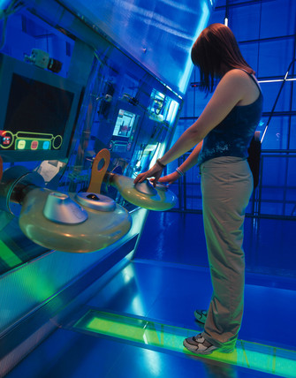 Interactive display, Science Museum, London, August 2000.
