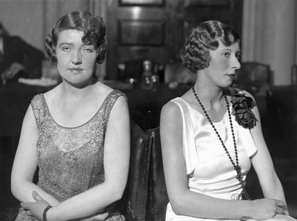 Two women's finished coiffures, 5 November 1931