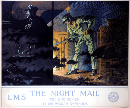 'The Night Mail', LMS poster, 1924.