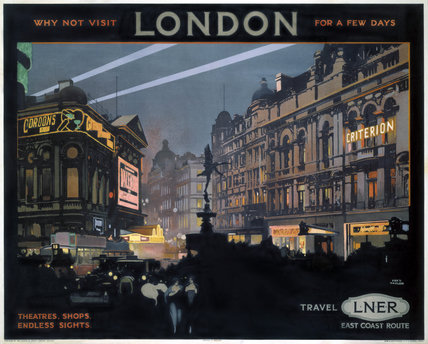 'Piccadilly Circus', LNER poster, 1923-1947.