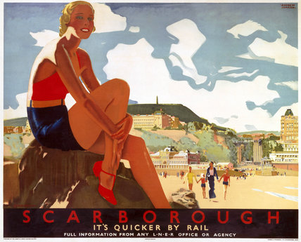 'Scarborough: It's Quicker by Rail', LNER poster, 1933.