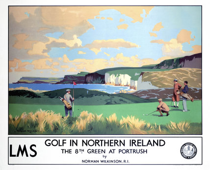 'Golf in Northern Ireland', LMS poster, c 1925.