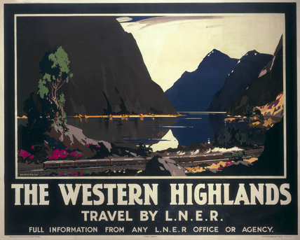 'The Western Highlands', LNER poster, 1935.