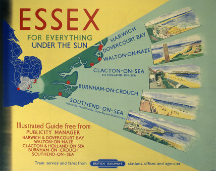 'Essex: For Everything Under the Sun', BR poster, 1948-1965.