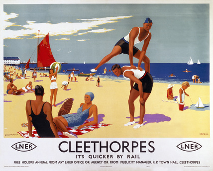 'Cleethorpes: It's Quicker by Rail', LNER poster, 1941.