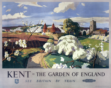 'Kent - The Garden of England', BR poster, 1955.