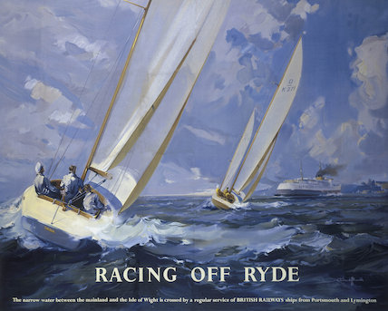 'Racing off Ryde', BR poster, 1950s.