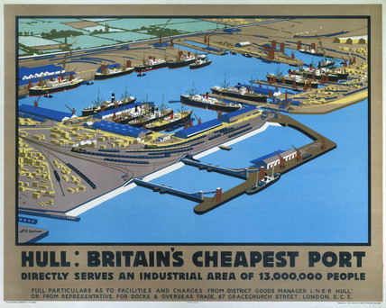 'Hull: Britain's Cheapest Port', LNER poster, 1929.