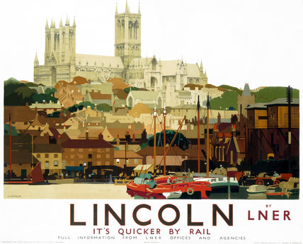 'Lincolnshire - It's Quicker by Rail', LNER poster, 1924.