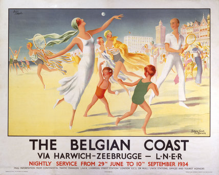 'The Belgian Coast', LNER poster, 1934.