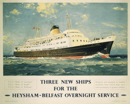 'Three New Ships', BR poster, 1950s.