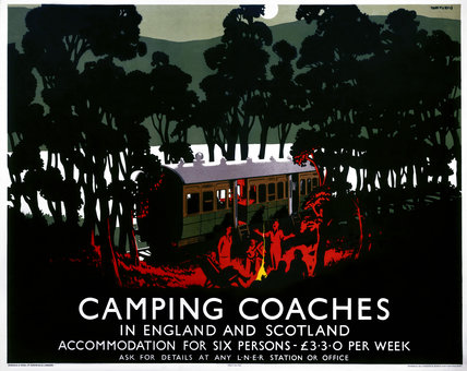 'Camping Coaches', LNER poster, 1923-1947.