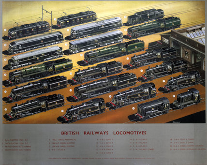 'British Railways Locomotives', BR poster, c 1960.