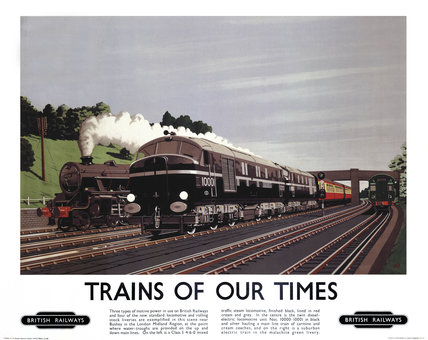 'Trains of our Times', BR poster, 1948-1965.