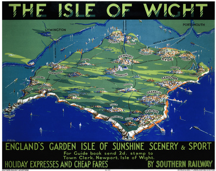 'The Isle of Wight', SR poster, 1930.