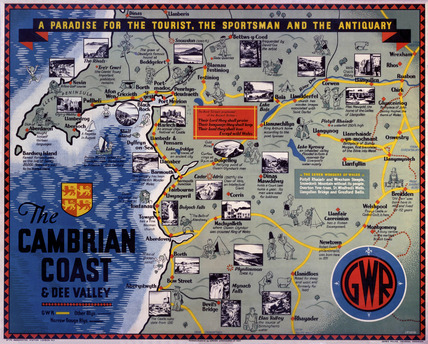 'The Cambrian Coast', GWR poster, c 1920s.
