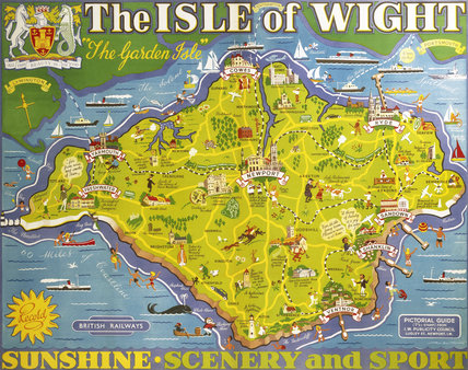 'The Isle of Wight', BR poster, 1949.