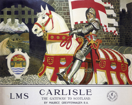 'Carlisle: The Gateway to Scotland', LMS poster, 1924.
