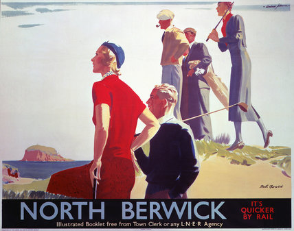 'North Berwick', LNER poster, 1930.