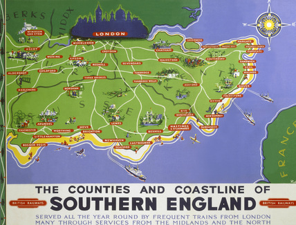 'Southern England', BR poster, 1950s.