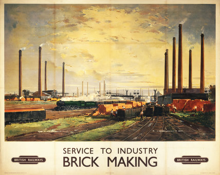 Service to Industry - Brick Making', BR poster, c 1950s.
