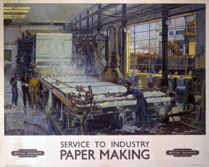 'Service to Industry: Paper Making', BR poster, 1950.