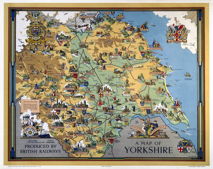 'A Map of Yorkshire', BR poster, 1949.