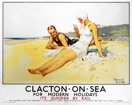 'Clacton-on-Sea', LNER poster, 1923-1947.