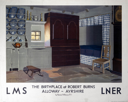 'The Birthplace of Robert Burns', LMS/LNER poster, 1923-1947.