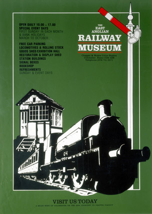 East Anglian Railway Museum poster, c 1980s.