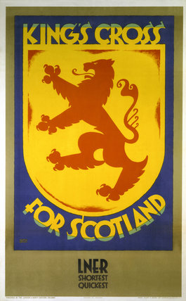 'King's Cross for Scotland', LNER poster, 1923-1947.