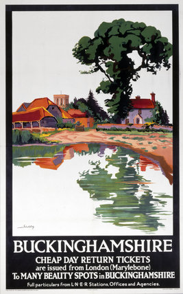 'Buckinghamshire - Cheap Day Return Tickets', LNER poster, 1923-1947.