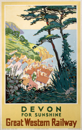 'Devon for Sunshine', GWR poster, 1923-1947.