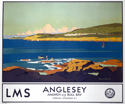 'Anglesey', LMS poster, 1923-1947.