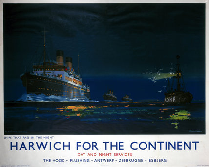 'Harwich for the Continent', LNER poster, 1923-1947.