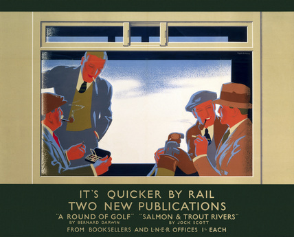'It's Quicker by Rail - Two New Publications', LNER poster, 1923-1947.