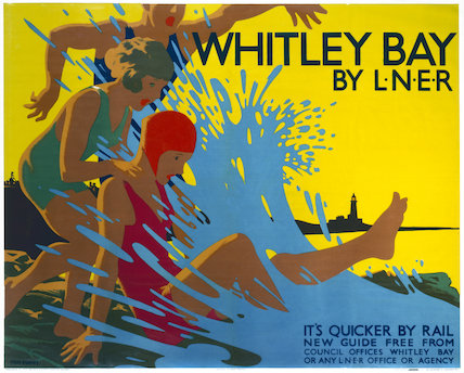 'Whitley Bay by LNER', LNER poster, c 1930s.