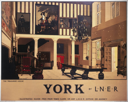 'York - The Treasurer's House', LNER poster, 1930.
