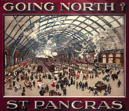 'Going North? St Pancras', MR poster, 1910.