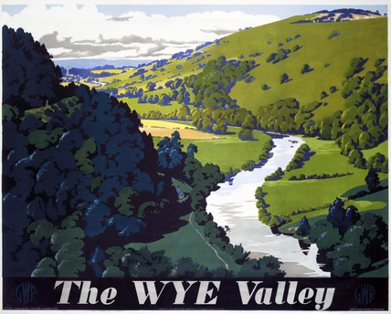 'The Wye Valley', GWR poster, 1946.