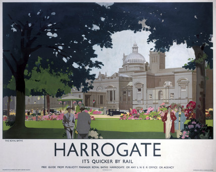 'Harrogate - The Royal Baths', LNER poster, 1930.