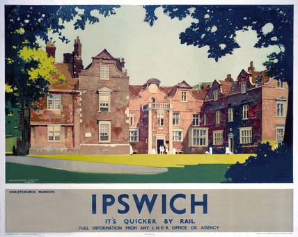 'Ipswich: Christchurch Mansion', LNER poster, 1923-1947.