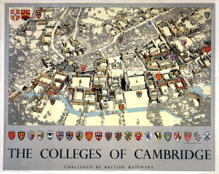 'The Colleges of Cambridge', BR poster, 1948-1965.